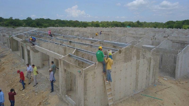 A toda marcha la construcción de 200 viviendas gratuitas en Santo Tomás