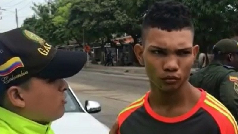 Capturan en el barrio Rebolo a alias 'Pinguillo', integrante de los 'Papalópez'