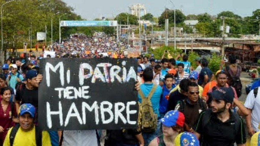 protesta hambre venezuela 1