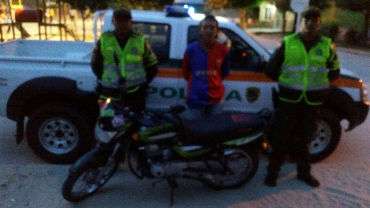 capturado robo motos