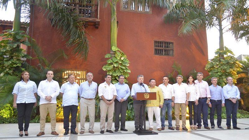 Gobernadores del Caribe y Presidente definen pasos para la defensa del Estado y escogencia del remplazo de Electricaribe
