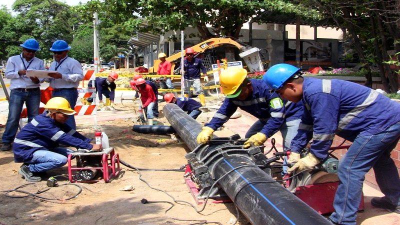 Antes de lo previsto Triple A terminó trabajos de tubería en el norte de Barranquilla