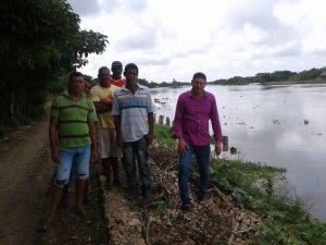 Comunidad de Santa Lucía reporta que el Canal del Dique ya está socavando el terraplén 3
