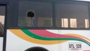 Dos heridos y un capturado deja ataque contra un bus de Transmetro en Soledad 1