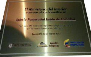 Minterior reconoce labor de la Iglesia Pentecostal Unida de Colombia por más de 80 años en el país 4