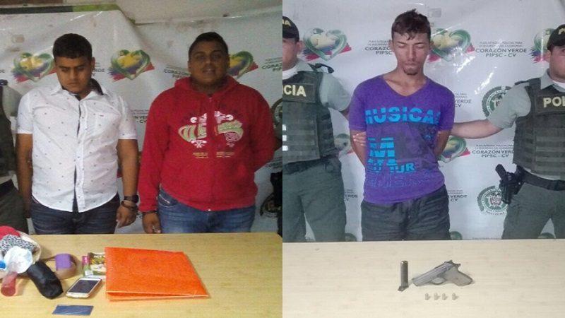 Policía capturó a tres atracadores en los barrios Montes y Rebolo