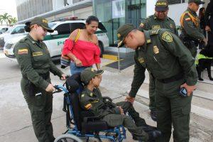 Policía le cumple el sueño a niño de 12 años con situación de discapacidad 5