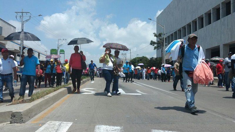Protesta de docentes frenó también servicio de Transmetro en Barranquilla