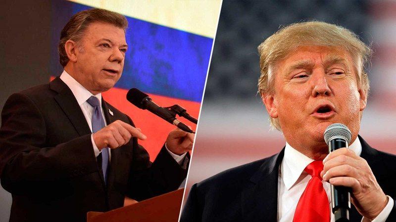 Presidente Trump anuncia visita del Presidente Santos a la Casa Blanca