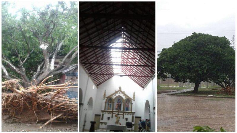 Vendaval destechó iglesia, derribó árboles y dejó varios pueblos sin luz en Atlántico