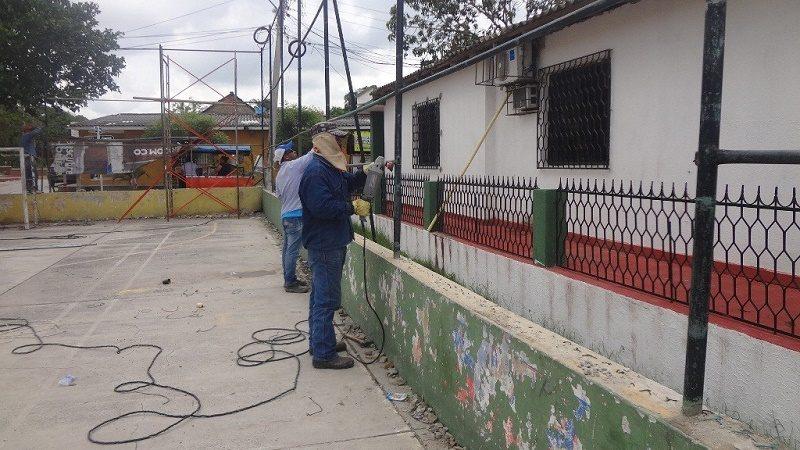 mantenimiento cancha malambo