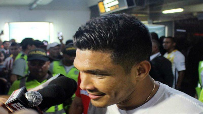 Así fue recibido Teófilo Gutiérrez en Barranquilla