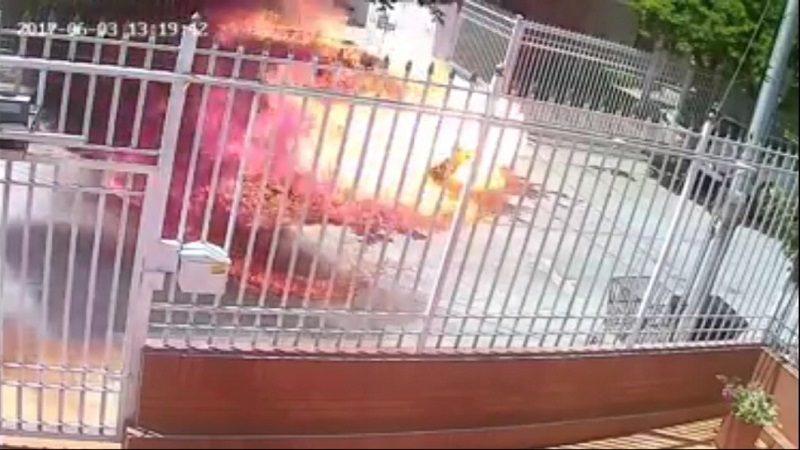 Así le incendiaron la camioneta al ex-senador Hernando Escobar en Santa Marta