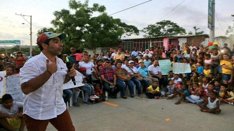 Barrio La Manga estrena tres calles pavimentadas