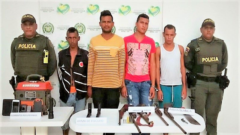 Cae banda que asaltó en una finca de Palmar de Varela