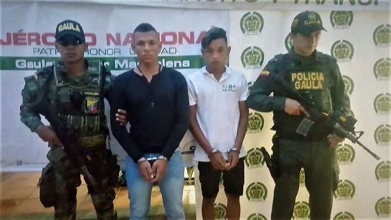 Capturan a dos hombres que extorsionaban a comerciantes en Fundación, Magdalena