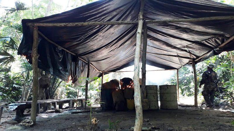 Destruyen laboratorio de cocaína del 'Clan de Golfo' en el sur de Bolívar