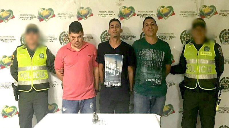 Los tres capturados en el norte en un taxi tienen más de 12 anotaciones judiciales