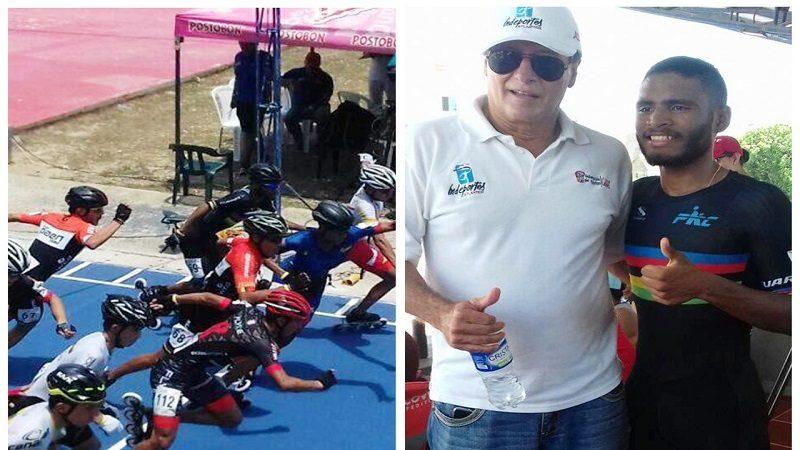 Patinador atlanticense, Alex Cuvajante, primero en la prueba eliminatoria de los 5 mil metros