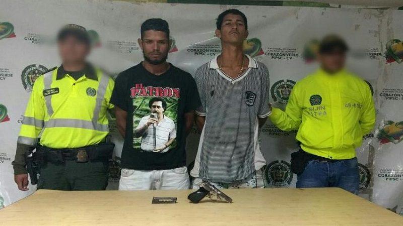 Policía capturó a dos atracadores en el barrio El Bosque