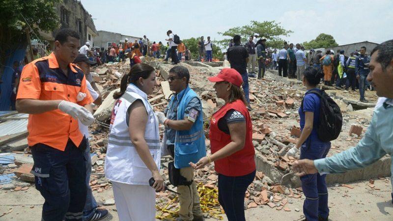 Afectados por desplome de edificio en Cartagena recibirán ayuda del Distrito