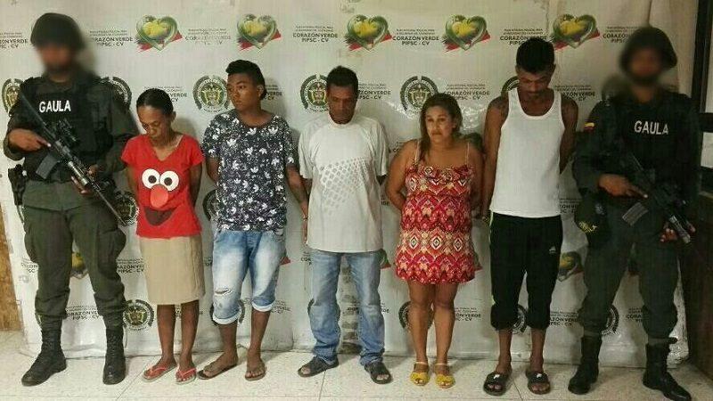 Cayó alias 'Mapaná rabo-seco' y su banda de extorsionistas en Barranquilla