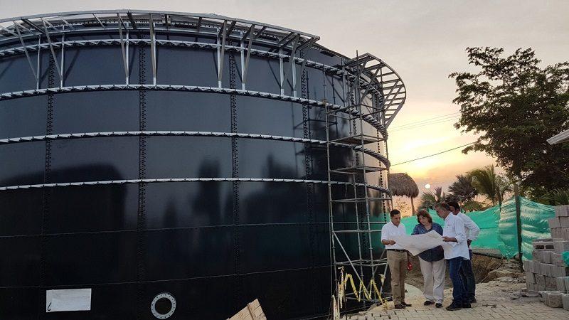 Construyen megatanque de almacenamiento de agua para zona costera en Atlántico