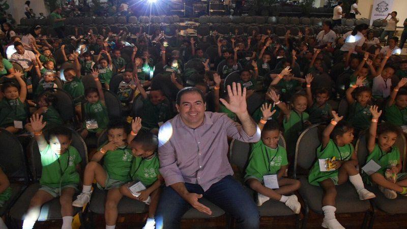 Niños de los CDI disfrutaron show musical con alegría y rondas infantiles