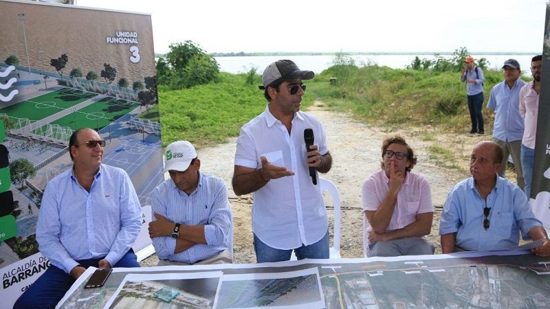 Alcalde Char dio inicio a obras de continuación del Gran Malecón del Río Magdalena