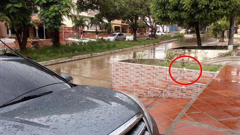Cable de energía hirió a un hombre y mató a su mascota en el barrio Las Delicias