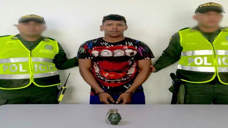 Capturan a un hombre que portaba una granada de fragmentación en el barrio Bendición de Dios