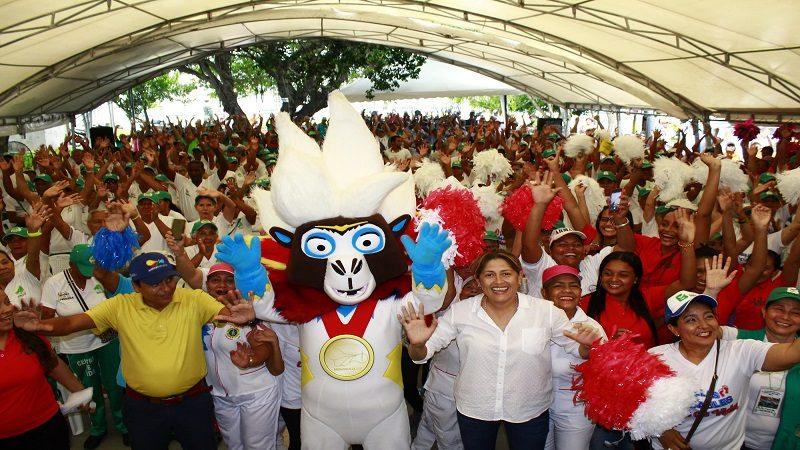 Con Baqui, los adultos mayores realizaron gimnasiada saludable en Barranquilla