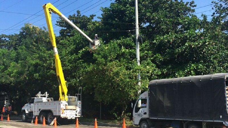 Este miércoles 2 de agosto, trabajos de poda y mejoras eléctricas en zona turística del Atlántico