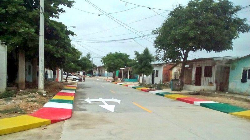 Habitantes del barrio La Paz estrena cuatro vías más pavimentadas