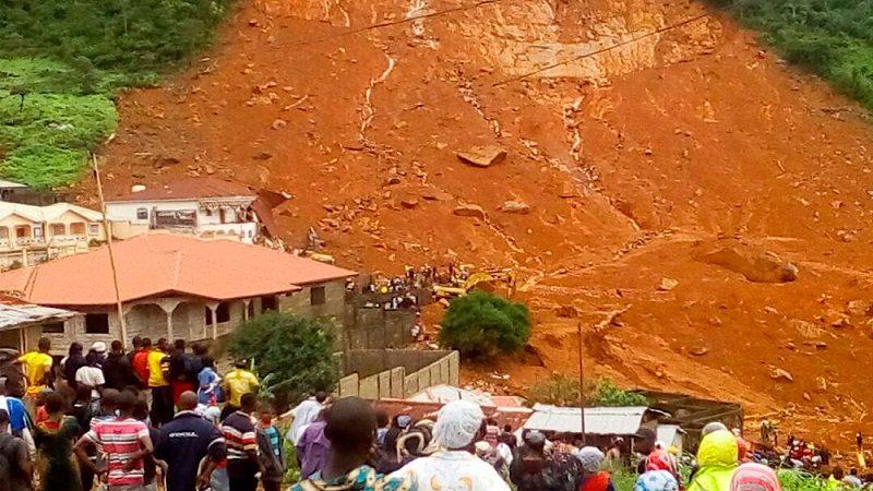 Lluvias dejan 300 muertos y 600 heridos en Sierra Leona