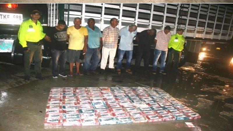 Policía incauta 100 kilos de cocaína en el barrio Los Olivos y captura a 7 personas