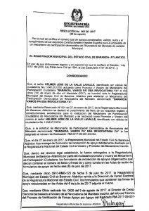Registraduría niega revocatoria contra alcalde de Baranoa, Lázaro Escalante 1