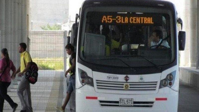 Transmetro anuncia reactivación de la ruta A5-3 La Central que habían suspendido por vandalismo
