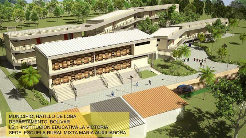 Aprueban la construcción de tres modernos colegios para el departamento de Bolívar