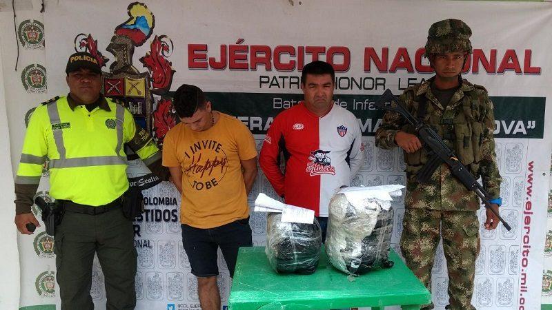 Caen dos hombres que transportaban marihuana desde Zona Bananera hacia Barranquilla