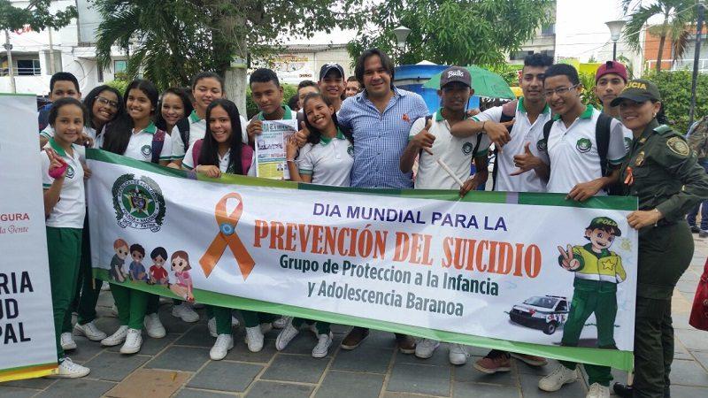 En Baranoa, policía y alcaldía lanzan el Día Mundial contra el Suicidio