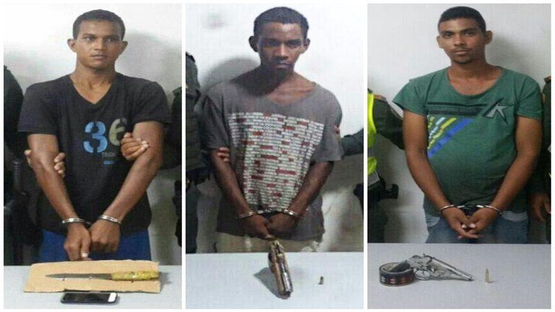 Policía captura a tres atracadores en El Bosque, El Boliche y El Edén