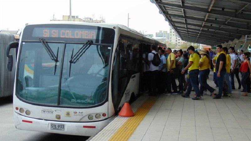 Transmetro anuncia 20 buses articulados adicionales por el partido Colombia-Brasil