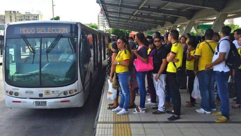 Así va a ser de Transmetro para el partido Colombia - Paraguay