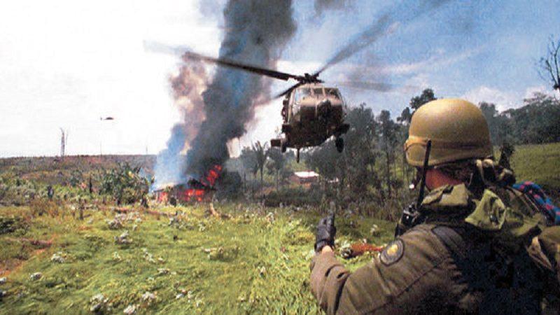 Atacan helicóptero de la Policía en operativo antinarcóticos
