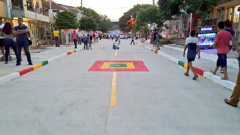 Barrio Ciudadela 20 de Julio estrena cinco vías pavimentadas