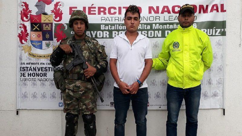 Ejército captura a alias 'Pinochito', cabecilla de los Pachenca en el Magdalena