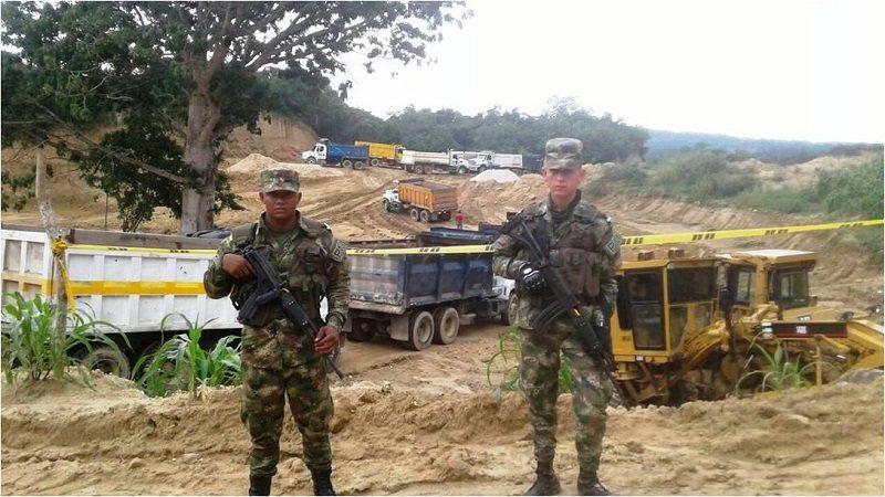Ejército dio un duro golpe a la minería ilegal en Baranoa, Atlántico
