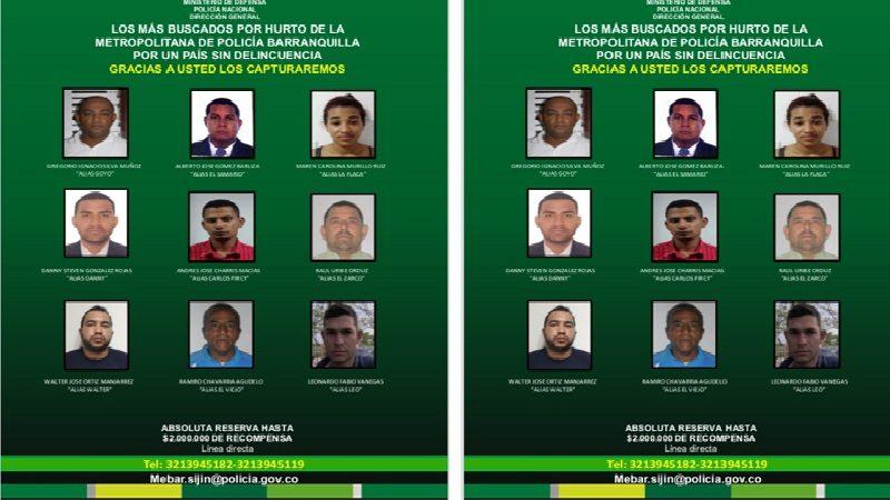 Estos son los 9 más buscados por homicidio en Barranquilla