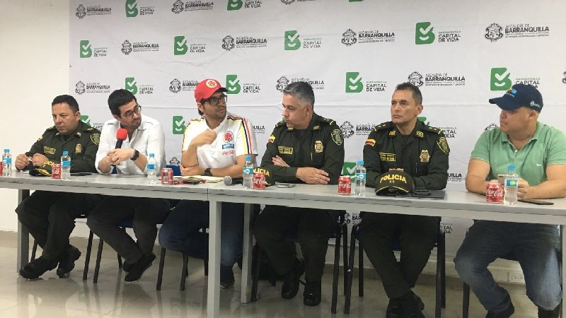 Más de 2.500 policías dentro y fuera dele estadio para el partido de Colombia